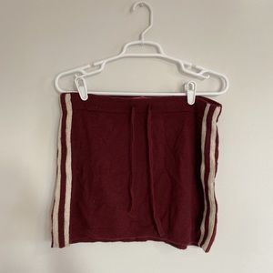juicy couture sporty red skirt
